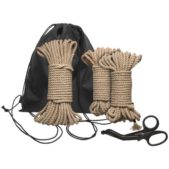 Kink Bind And Tie Initiation 5 Piece Hemp Rope Kit