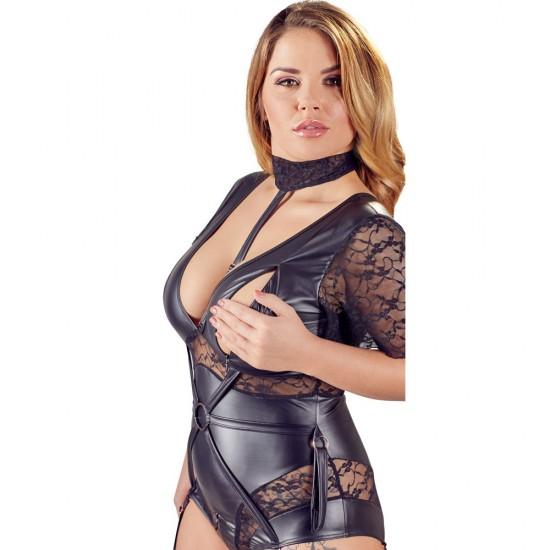Cottelli Plus Size Bondage body open chest