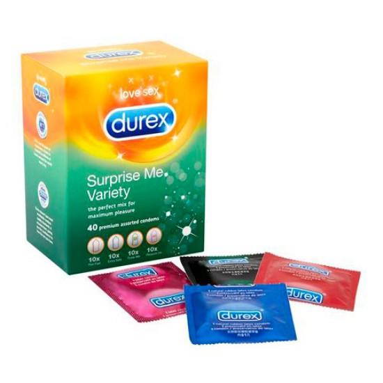Durex Surprise Me Variety Pack Of 40 Condoms
