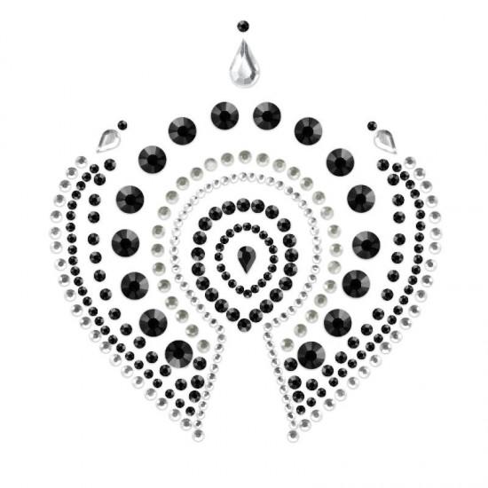 Bijoux Indscrets Flamboyant Body Jewelery Black And Silver