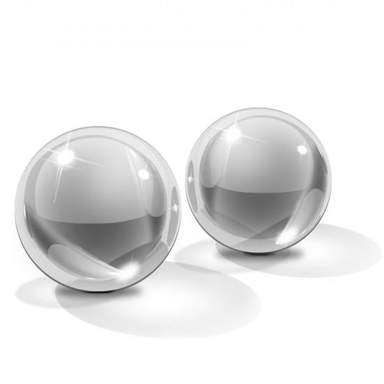 Icicles No 42 Medium Hand Blown Glass Ben Wa Balls