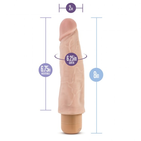 Dr. Skin Cock Vibe 14 Vibrating Cock 8 Inches