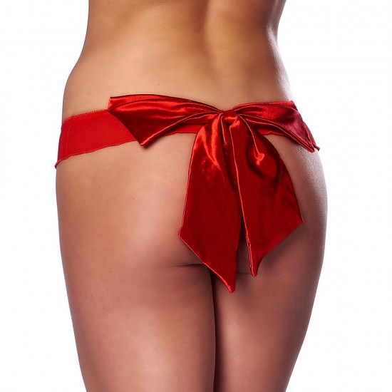 Flirty Red Briefs With Bow